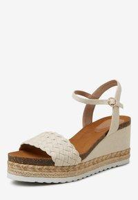 Next - Platform sandals - off-white - 2