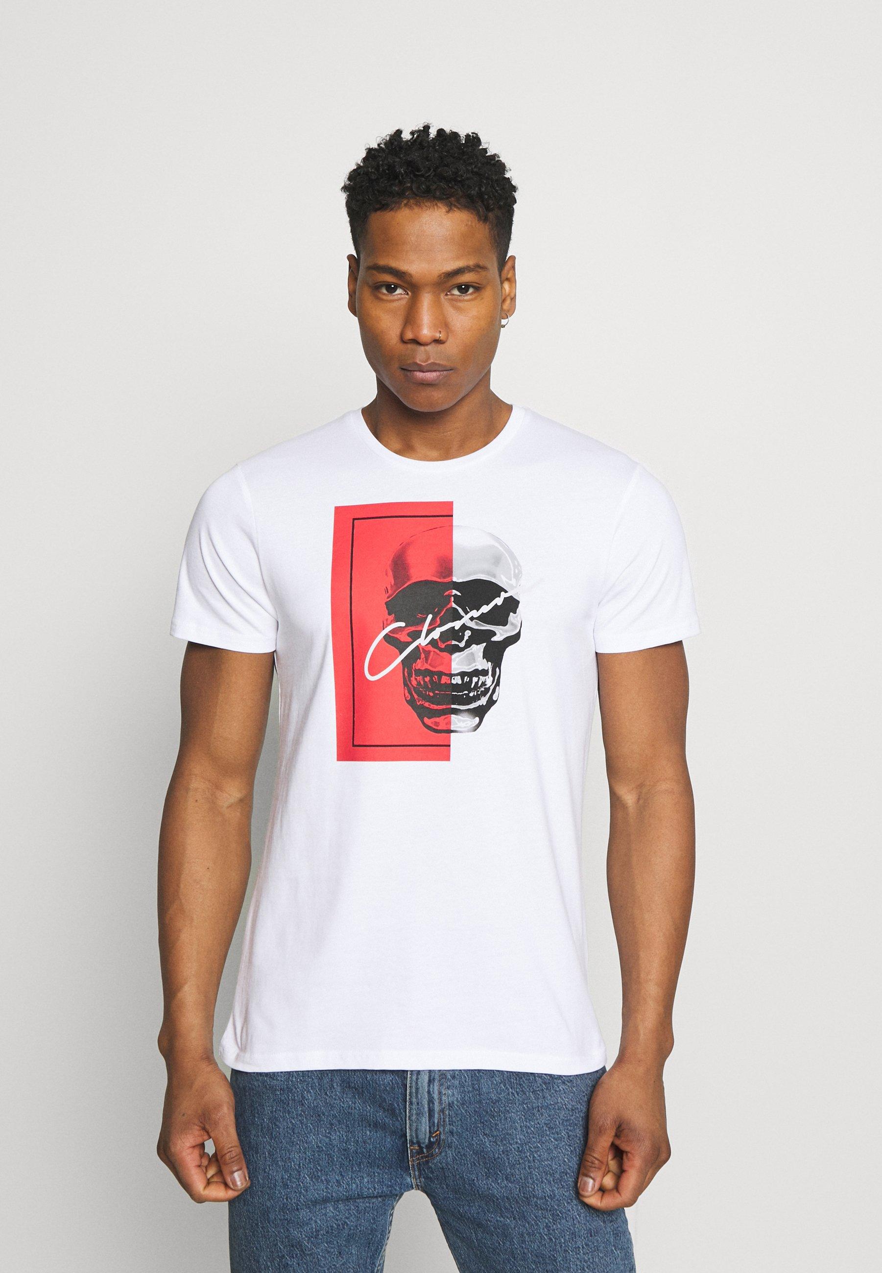 Homme SPLIT SKULL TEE - T-shirt imprimé