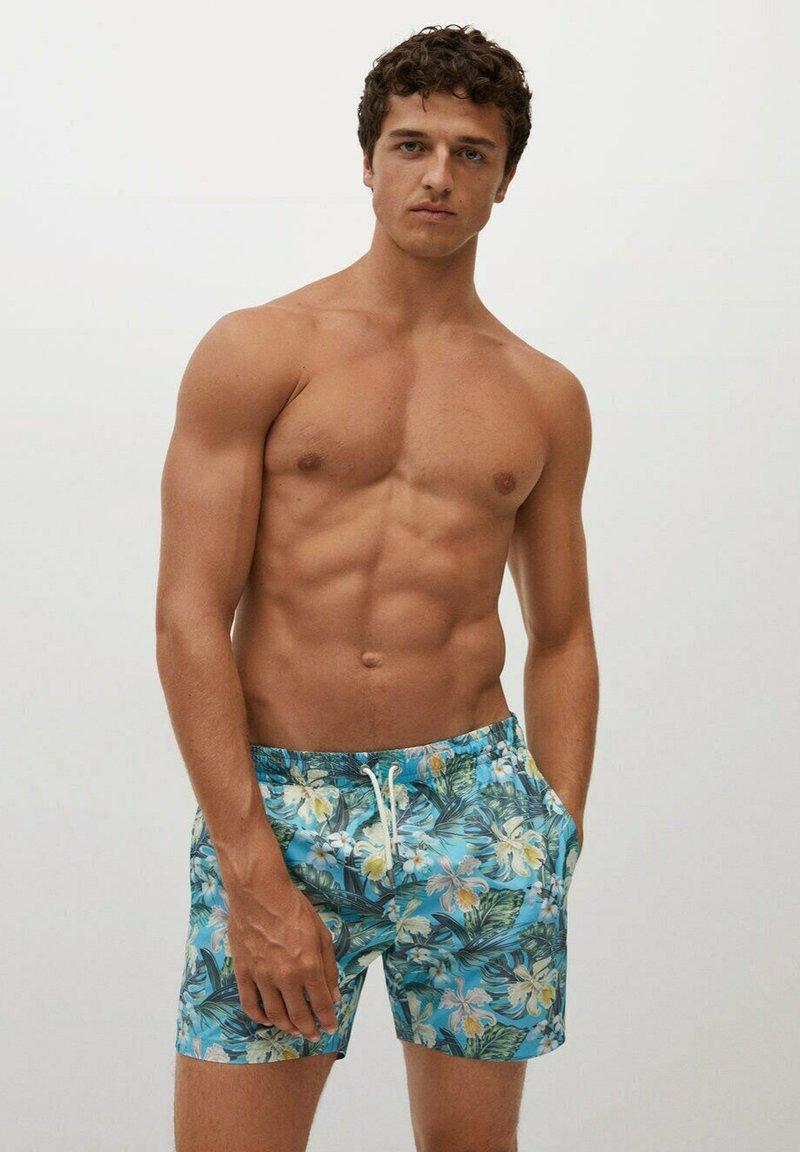 Mango - MIT HAWAII - Swimming shorts - blau