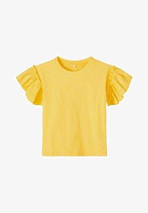 RÜSCHENÄRMEL - T-shirts print - sunset gold