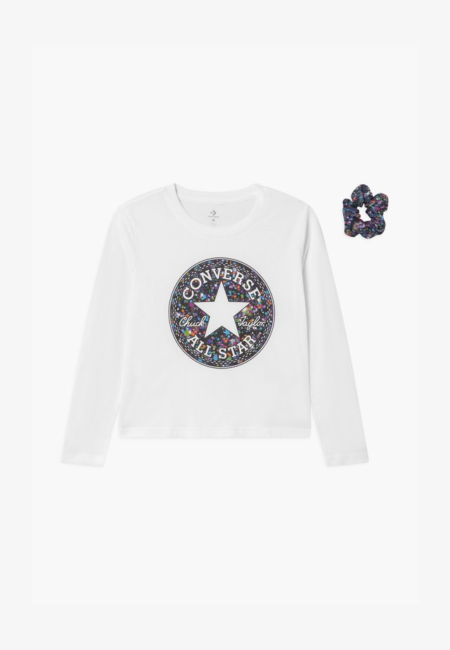 PRINT FILLED TEE - Long sleeved top - white