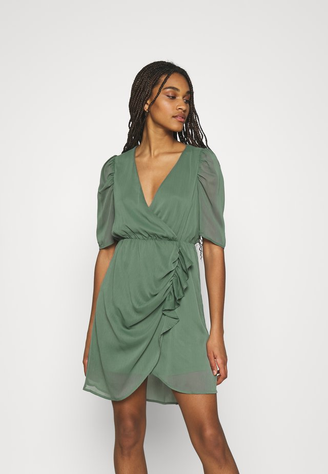 VMJEAN WRAP DRESS  - Sukienka koktajlowa - laurel wreath