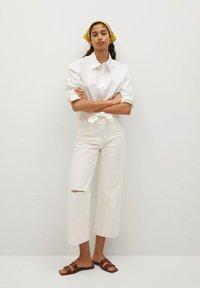 Mango - GABRIELA - Straight leg jeans - ecru - 1