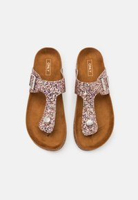 ONLY SHOES - ONLMATHILDA METALLIC TOE SPLIT - T-bar sandals - light pink - 4