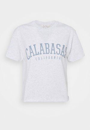 CALABSAS TEE - T-shirt print - pale grey