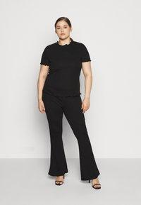 Even&Odd Curvy - SEMI FLARED - Leggings - Trousers - black - 1