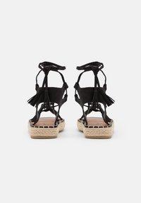 South Beach - LACE UP - Sandals - black - 3