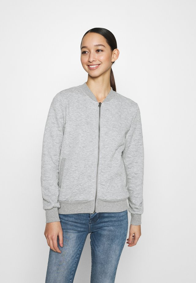 ONLKIMBERLY JOYCE - veste en sweat zippée - light grey melange