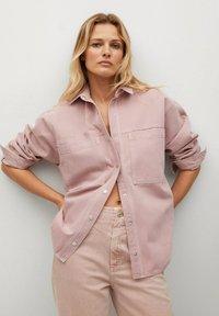 Mango - MICHELLE - Button-down blouse - lys/pastell lilla - 3