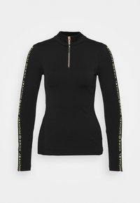 MICHAEL Michael Kors - LOGO SKI ZIP - Long sleeved top - black/gold-coloured - 0