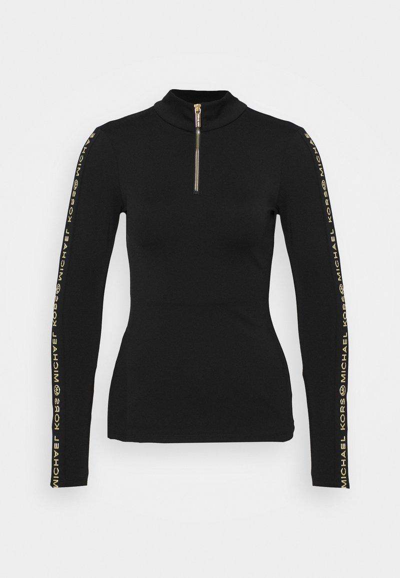 MICHAEL Michael Kors - LOGO SKI ZIP - Long sleeved top - black/gold-coloured