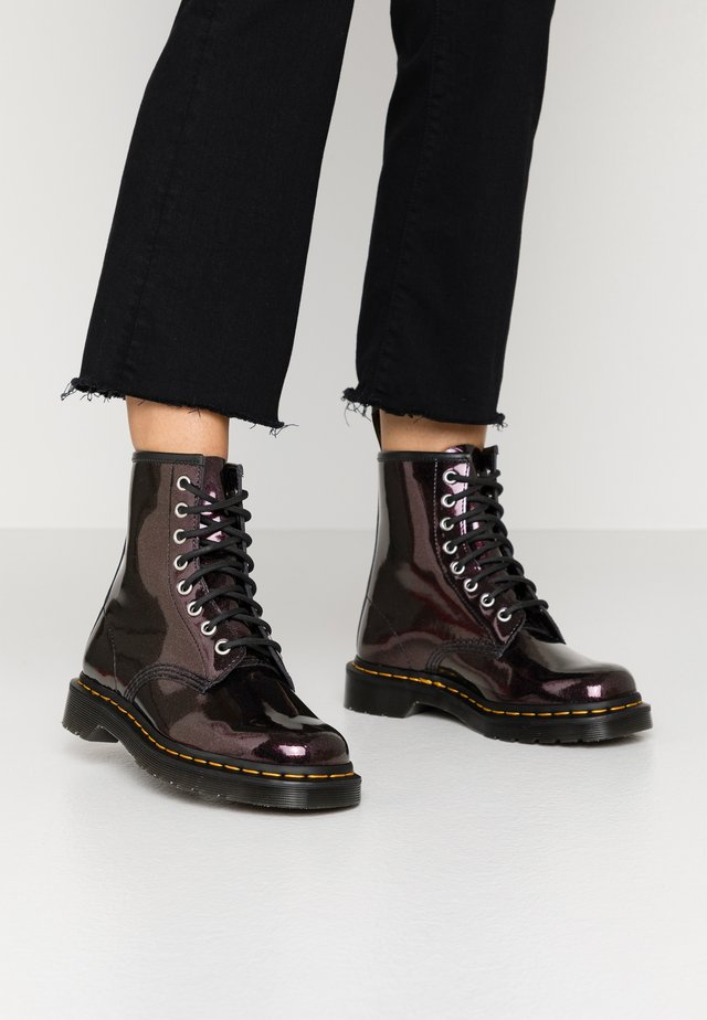 1460 8 EYE BOOT - Lace-up ankle boots - purple/royal sparkle