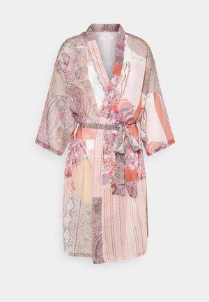 DANICA PATCHWORK KIMONO - Summer jacket - pink/sand