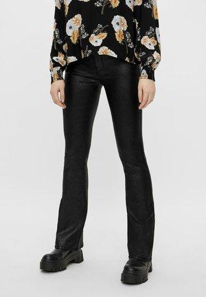 MIT GLITZER  - Bootcut jeans - black