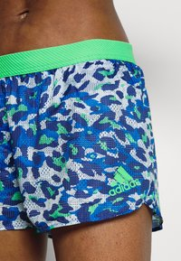adidas Performance - ADIZERO SPLIT - Pantalón corto de deporte - bold blue/semi screaming green - 4