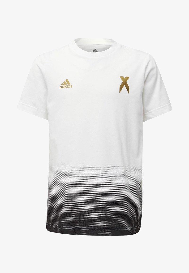 adidas Performance - FOOTBALL-INSPIRED X AEROREADY COTTON T-SHIRT - T-shirt z nadrukiem - white