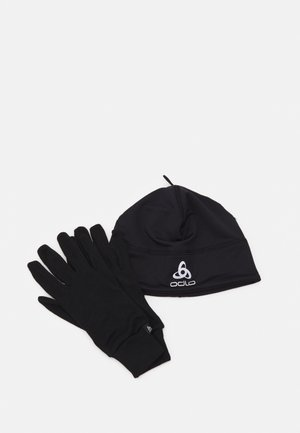 KIDS HAT GLOVES SET UNISEX - Čepice - black