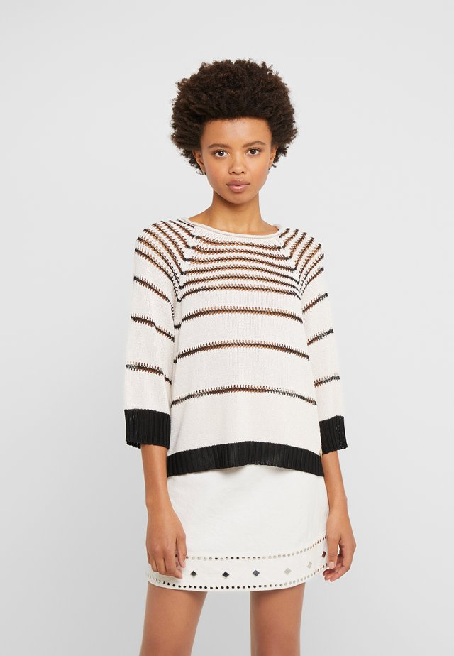 Jumper - riga antique white/nero