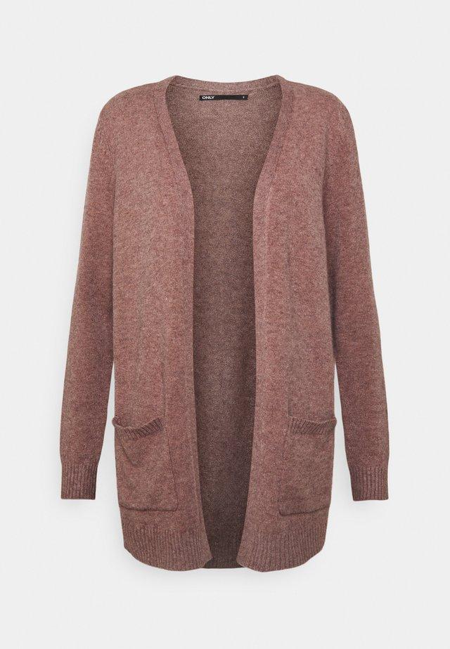 ONLLESLY L/S  NOOS - Cardigan - rose brown melange