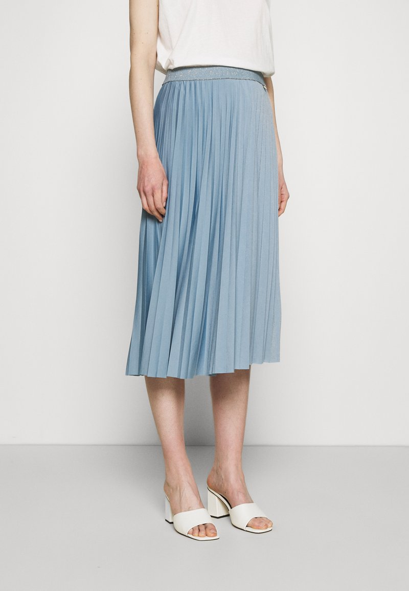 Rich & Royal - PLISSEE SKIRT - Pleated skirt - smoked blue
