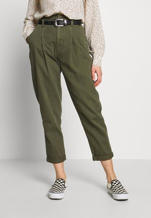 KATE GROWN ON WAIST - Jeansy Relaxed Fit - dark khaki