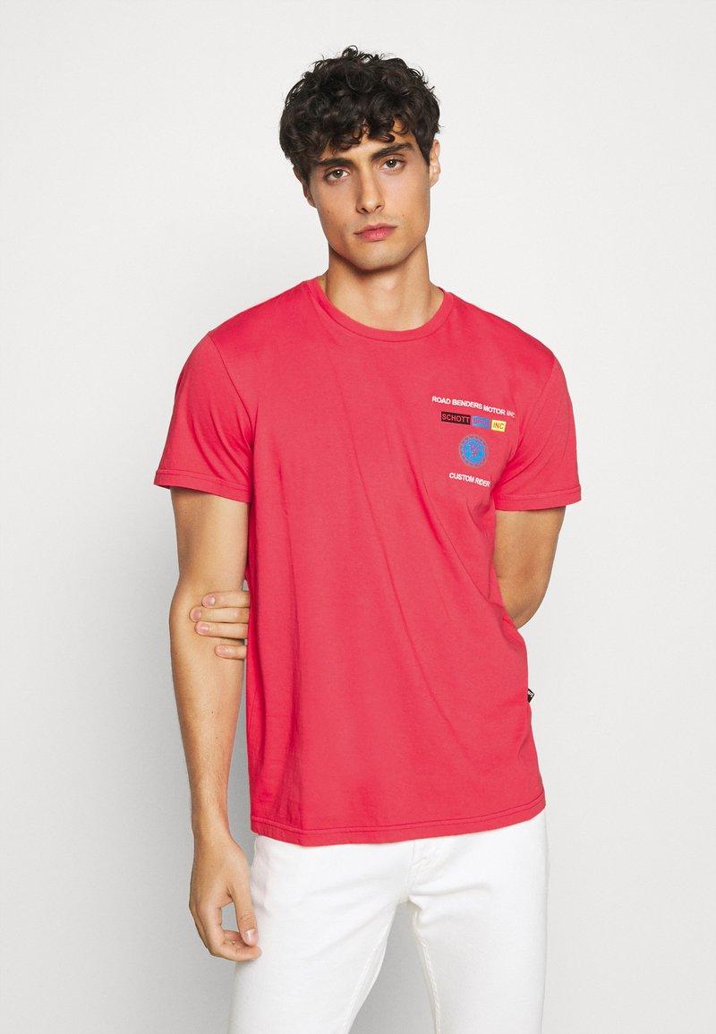 Schott - Print T-shirt - red