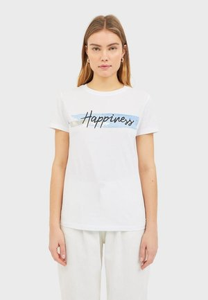 T-SHIRT MIT PRINT 02594563 - T-shirts print - white