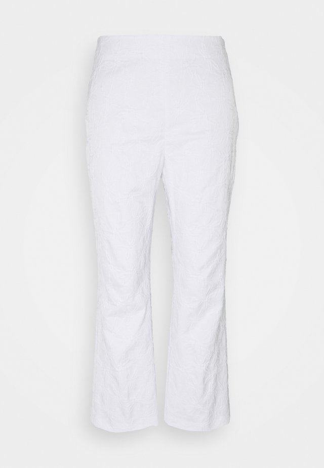 PANT - Broek - bianco ottico