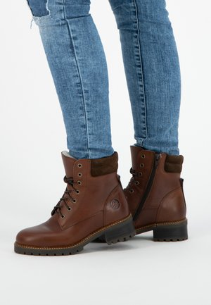 MOLDE - Lace-up boots - brown