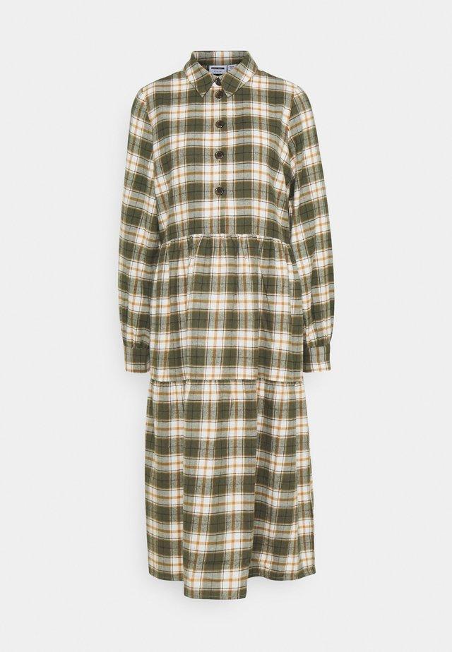 NMERIK LOOSE LONG DRESS - Shirt dress - fir green