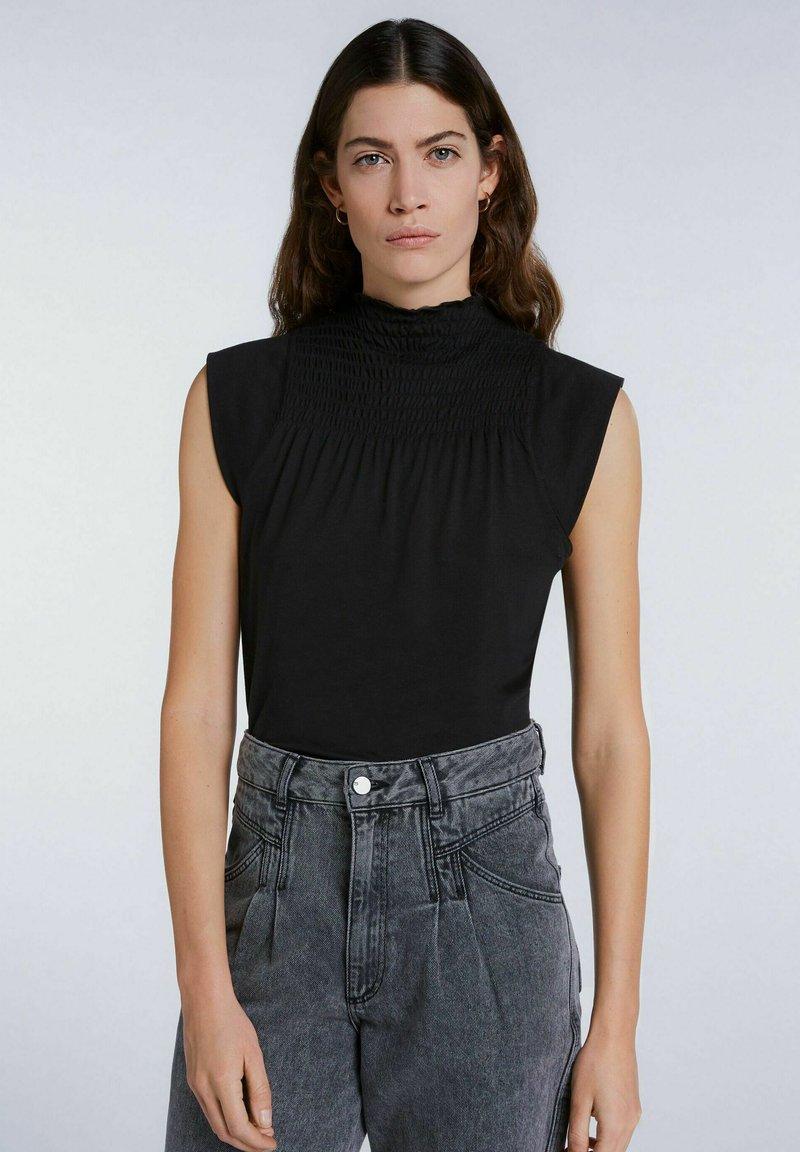 SET - MIT SMOKDETAIL - Print T-shirt - black