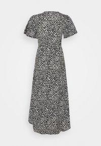 Missguided Petite - HIGH LOW MIDI DRESS DALMATIAN - Day dress - black - 1