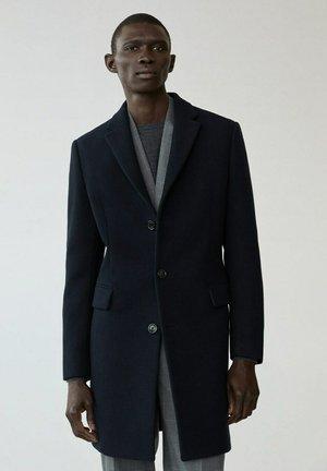 LONG RECYCLÉE - Short coat - dark navy