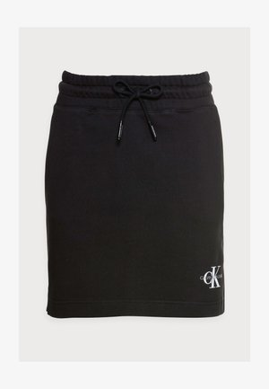 MONOGRAM HEAVYWEIGHT SKIRT - Mini skirt - black
