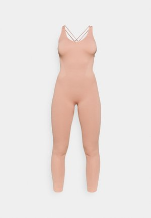 CROSS BACK LONG BODYSUIT - Gym suit - light pink