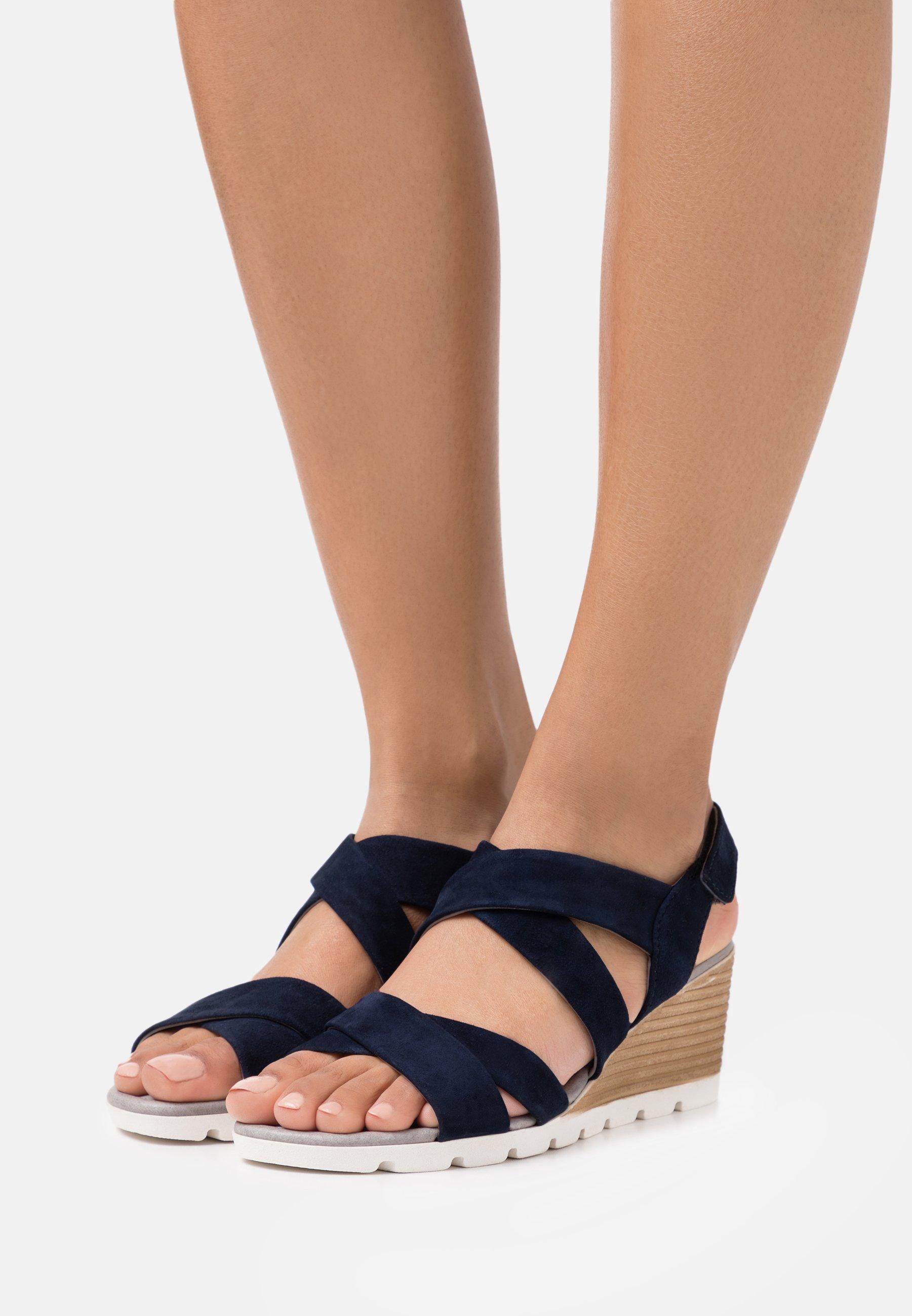 Femme LEATHER - Sandales compensées