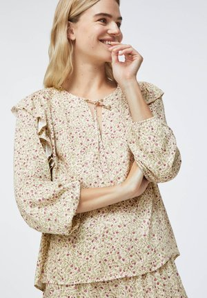DITSY FLORAL RUFFLE - Pyjama top - beige