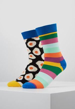 SUNNY SIDE UP STRIPE 2 PACK - Socks - multi-coloured