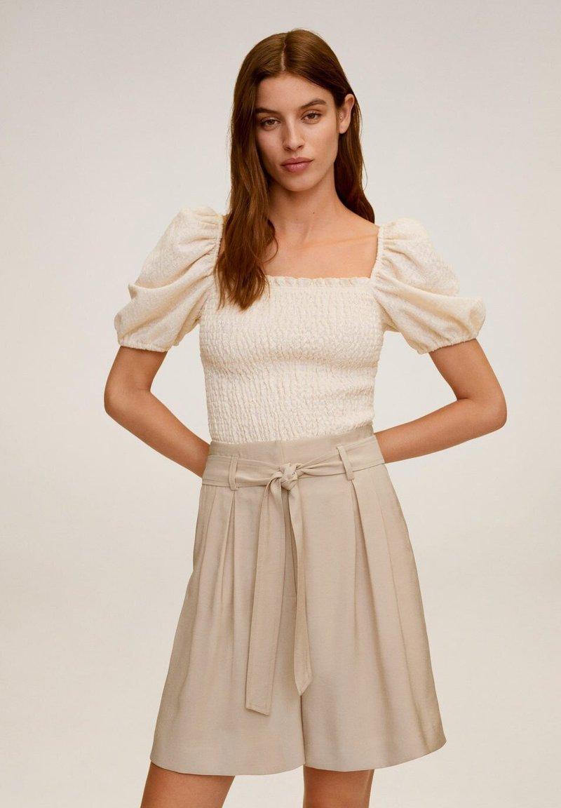 Mango - MAR - Shorts - beige