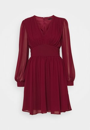 DANYA MINI DRESS - Vardagsklänning - burgundy