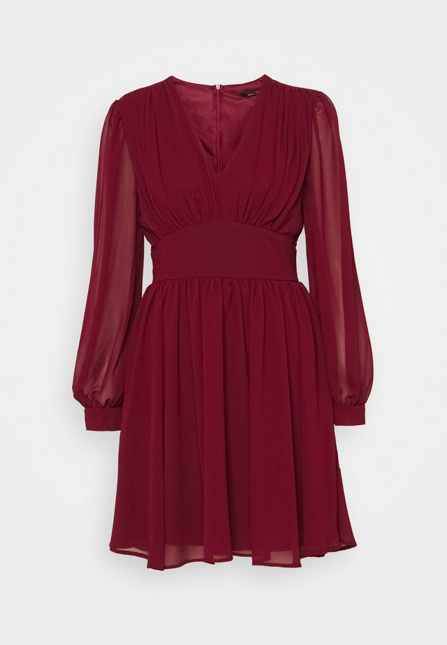 DANYA MINI DRESS - Vestito estivo - burgundy