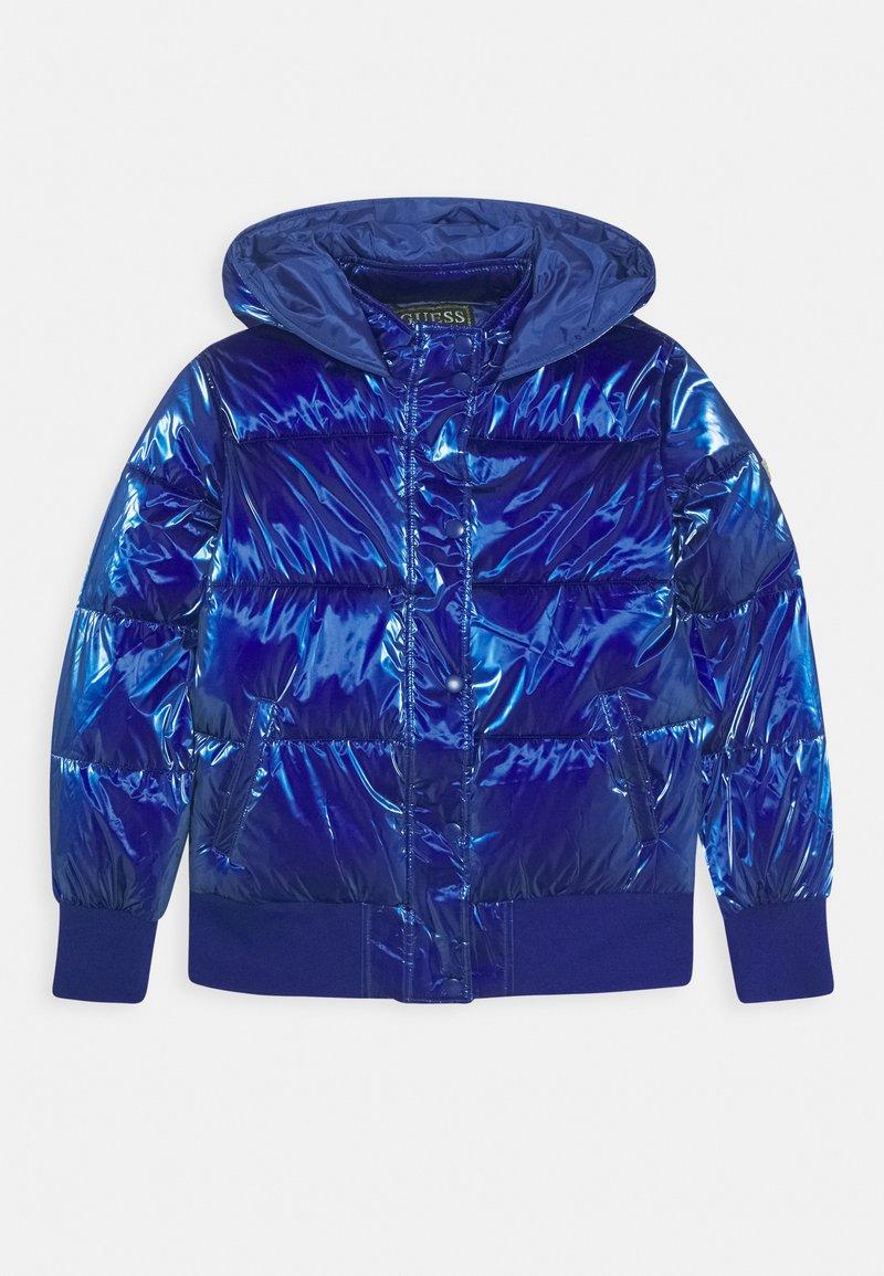 Guess - JUNIOR PADDED HOODED - Zimní bunda - jewel blue