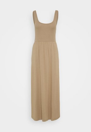 Jersey dress - light brown