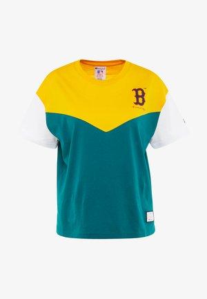 MLB BOSTON RED SOX CREWNECK - Triko spotiskem - yellow/green