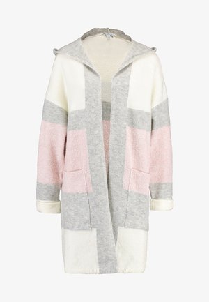 HODDED CARDIGAN - Strickjacke - antique white