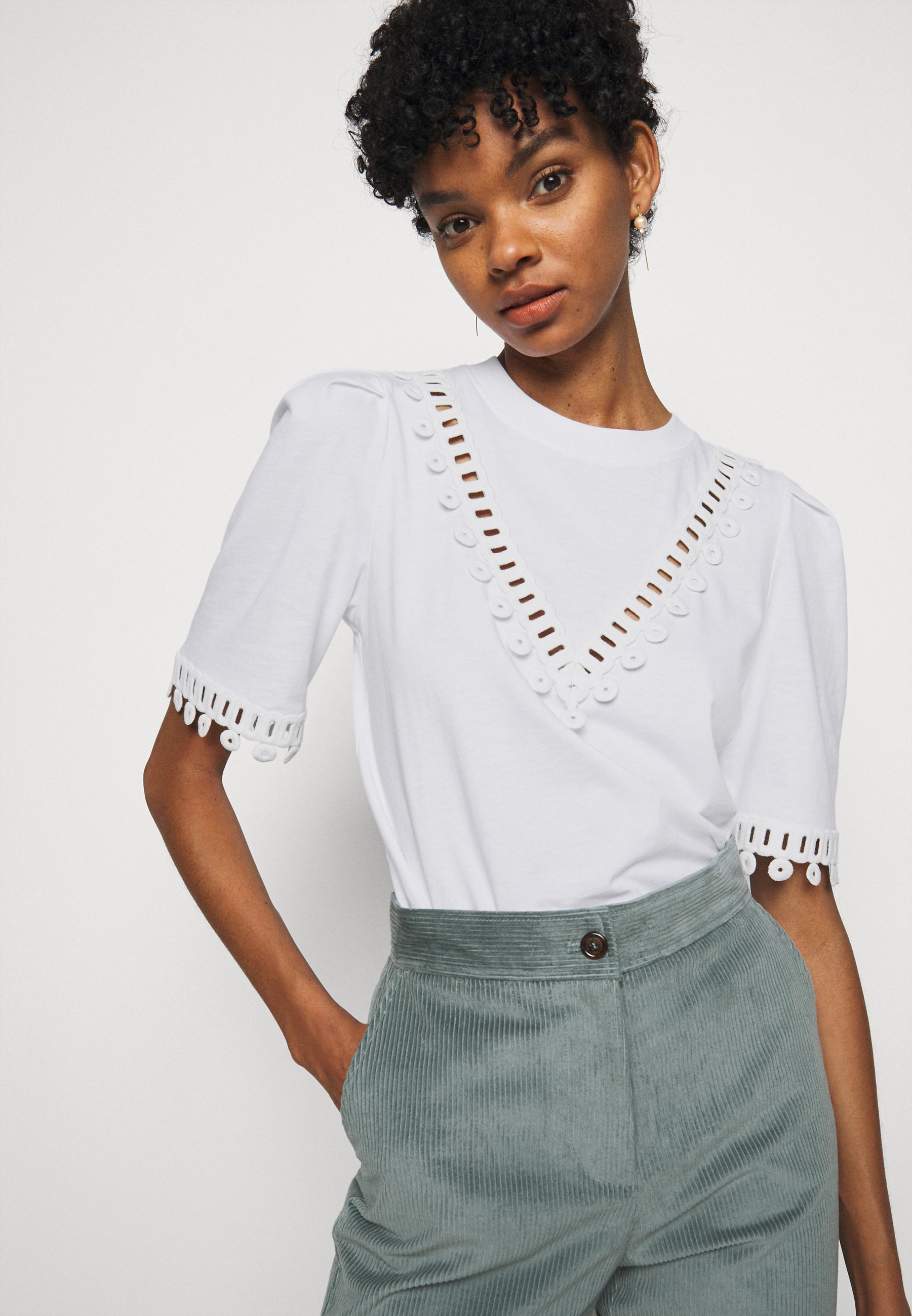 See By Chloé T-shirts Med Print - White Powder/hvit