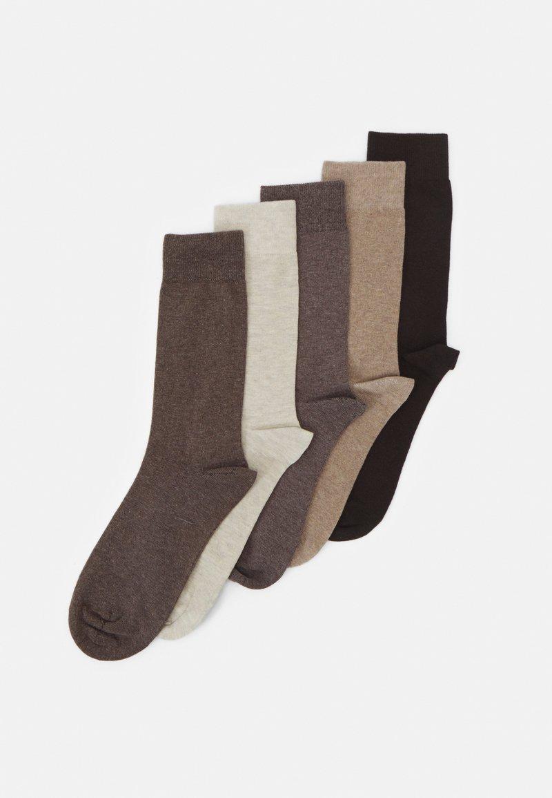 Pier One - 5 PACK - Socks - mottled brown