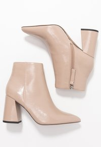 Topshop - HACKNEY POINT - High heeled ankle boots - taupe - 3