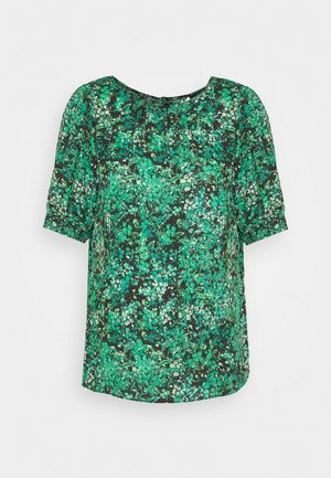 TRANS GREEN DITSY SHELL TOP - Blouse - green