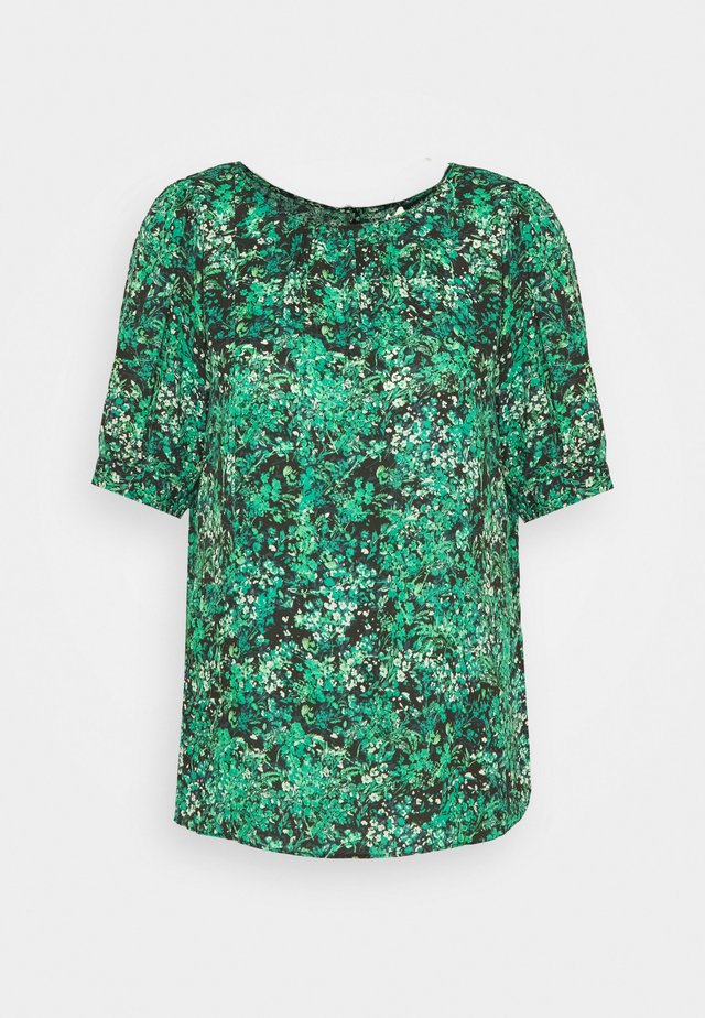 TRANS GREEN DITSY SHELL TOP - Bluser - green